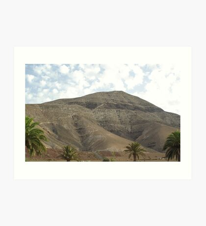 Lanzarote Mountain Art Print