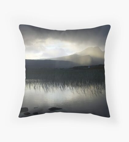 The Cuillins fron Kirkibost Throw Pillow