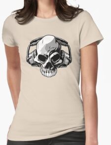 Skull phones Womens Fitted T-Shirt