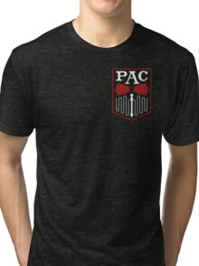 PAC Logo - Red and White (Small) Tri-blend T-Shirt