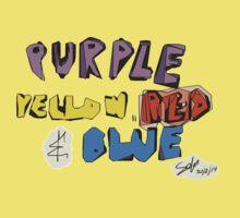 Purple Yellow Red & Blue Kids Tee