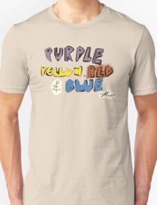 Purple Yellow Red & Blue T-Shirt