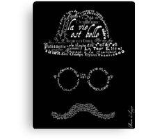 Moustache man 1 Canvas Print
