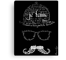 Moustache man 2 Canvas Print