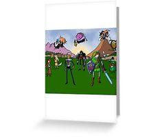 Ocarina of Adventure Time Greeting Card