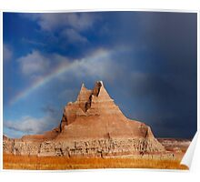 Sunrise over Badlands Castle Trail Poster