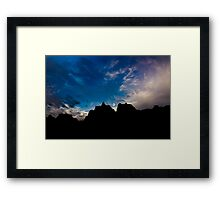 Sunrise over Badlands Door Trail Framed Print