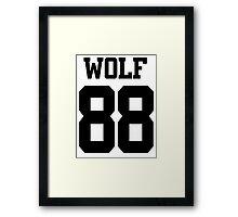 WOLF 88 Framed Print