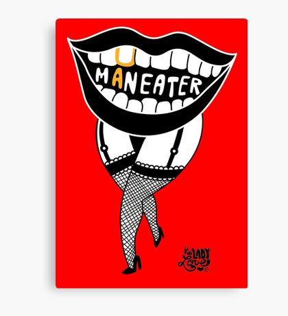 she's a maneater! Canvas Print