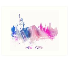 Skyline New York City Art Print
