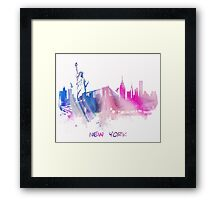Skyline New York City Framed Print