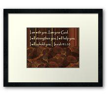 I Am Your God Framed Print