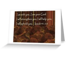 I Am Your God Greeting Card