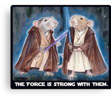 Jedi Yogie Masters Canvas Print