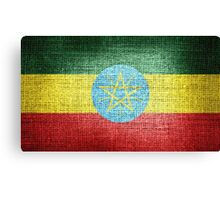 Ethiopia Flag Canvas Print