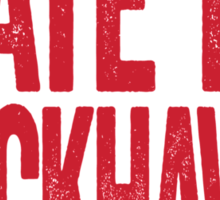 I Hate The Red Wings - Chicago Blackhawks T-Shirt - Show Your Team Spirit - Red Text Design - Haters Gonna Hate Sticker