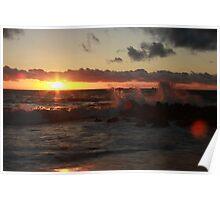 Sunset at Burns Beach Poster