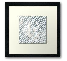 Striped E Framed Print
