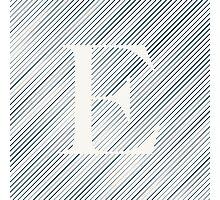 Striped E Photographic Print