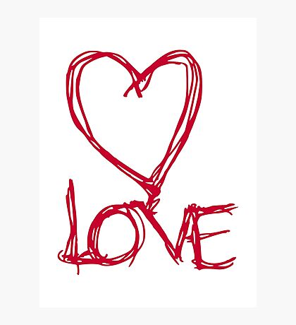 Red heart love Photographic Print