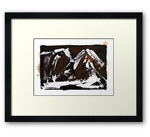 Study For An Icescape 10 Framed Print