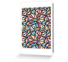 pattern of triangles Greeting Card