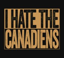 I Hate The Canadiens - Boston Bruins T-Shirt - Show Your Team Spirit - Gold Box Design - Haters Gonna Hate by BeefShirts