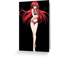 High School DXD Born Rias Gremory Naked Greeting Card