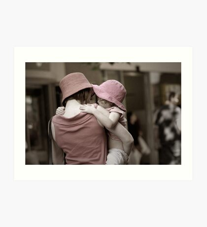 Out shopping with Mum Art Print