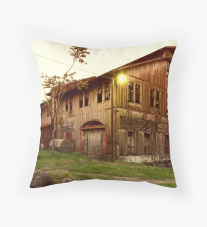 Wood Coffe House Throw Pillow
