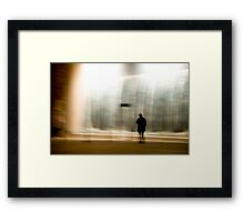 untitled observation (poetry in motion) Framed Print