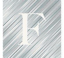 Striped F Photographic Print