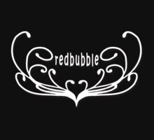 redbubble (white swirls) by red addiction