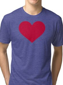 Red heart Tri-blend T-Shirt