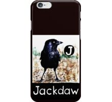 J is for Jackdaw iPhone Case/Skin