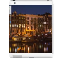 Night Lights on the Amsterdam Canals iPad Case/Skin
