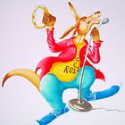 Kangaroo Rocker (Water-colour on cold press illust Board) by Rory Stapleton