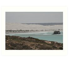 Looking left at the Head of the Bight. Art Print