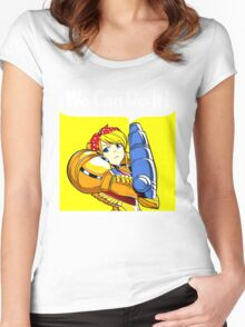 We can do it! Women's Fitted Scoop T-Shirt