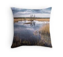 Westhay Moor Nature Reserve Throw Pillow