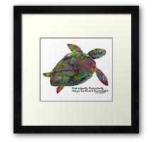 Goenka Ji Meditation Turtle Framed Print