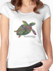 Goenka Ji Meditation Turtle Women's Fitted Scoop T-Shirt