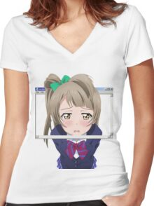 Delete me  Women's Fitted V-Neck T-Shirt