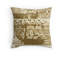 2015 SUPER BOWL, sepia photo, abstract art Throw Pillow