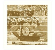 2015 SUPER BOWL, sepia photo, abstract art Art Print