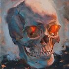 Skull Oil Painting by pavelsokov