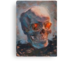 Skull Oil Painting Canvas Print