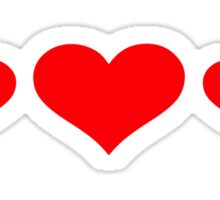 Three red hearts Sticker