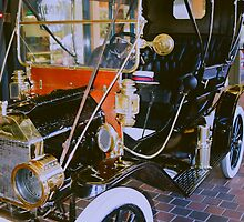 1910 Ford Cab.  by Nancy Stafford