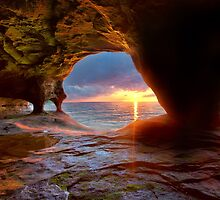 Sea Cave on Lake Superior by Craig Sterken